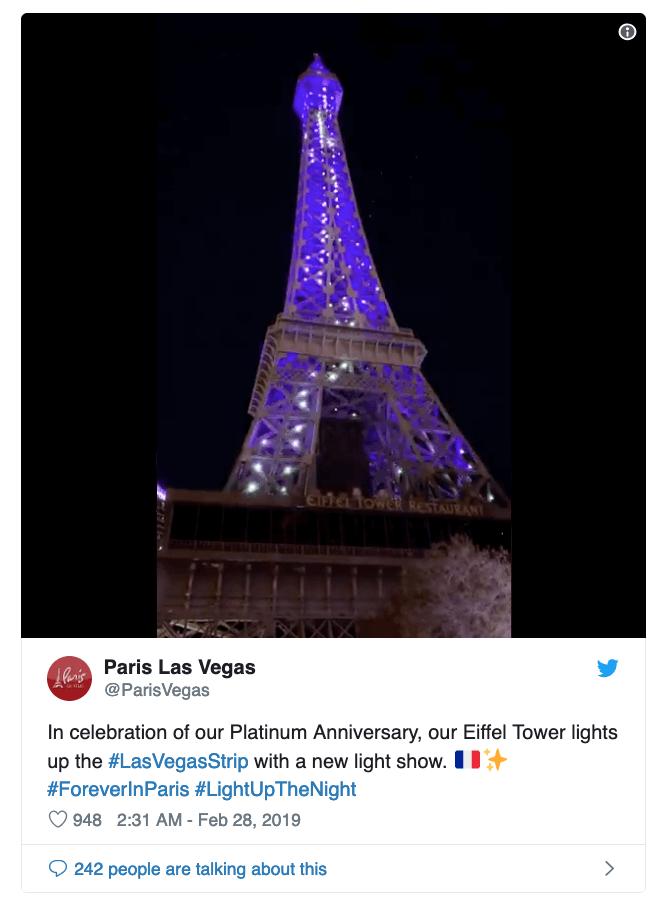 Paris Las Vegas Anniversary